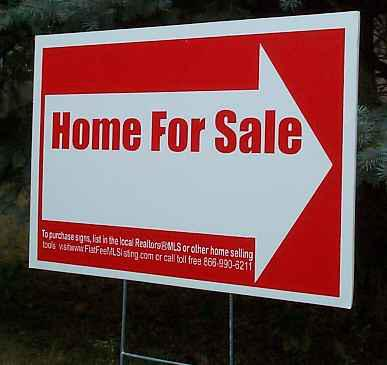 Real Estate Arrow Signs for Flat Fee MLS For Sale By Owner Home Sellers